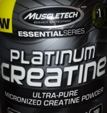 Micronized Creatine supplement powder from Muscletech